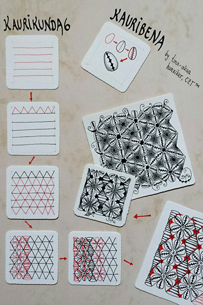 Kaurikunda 6/ Kauribena -Zentangle Muster - Tina Hunziker