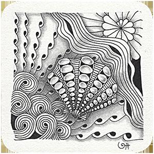 Zentangle mit Muster Buen Camino Tina Hunziker - Akua-Art