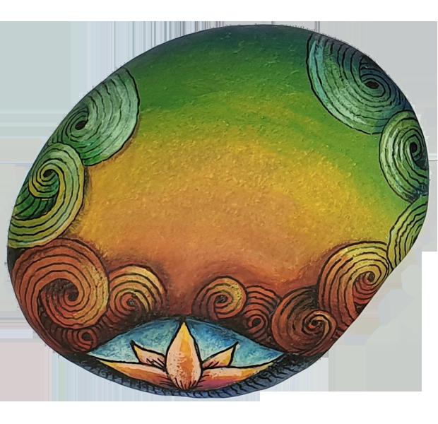 ZIA/Zentangle und Steine - Tina Hunziker - Akua-Art