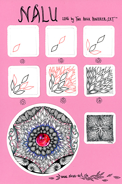 Zentangle-Muster - Nalu - Tina Hunziker